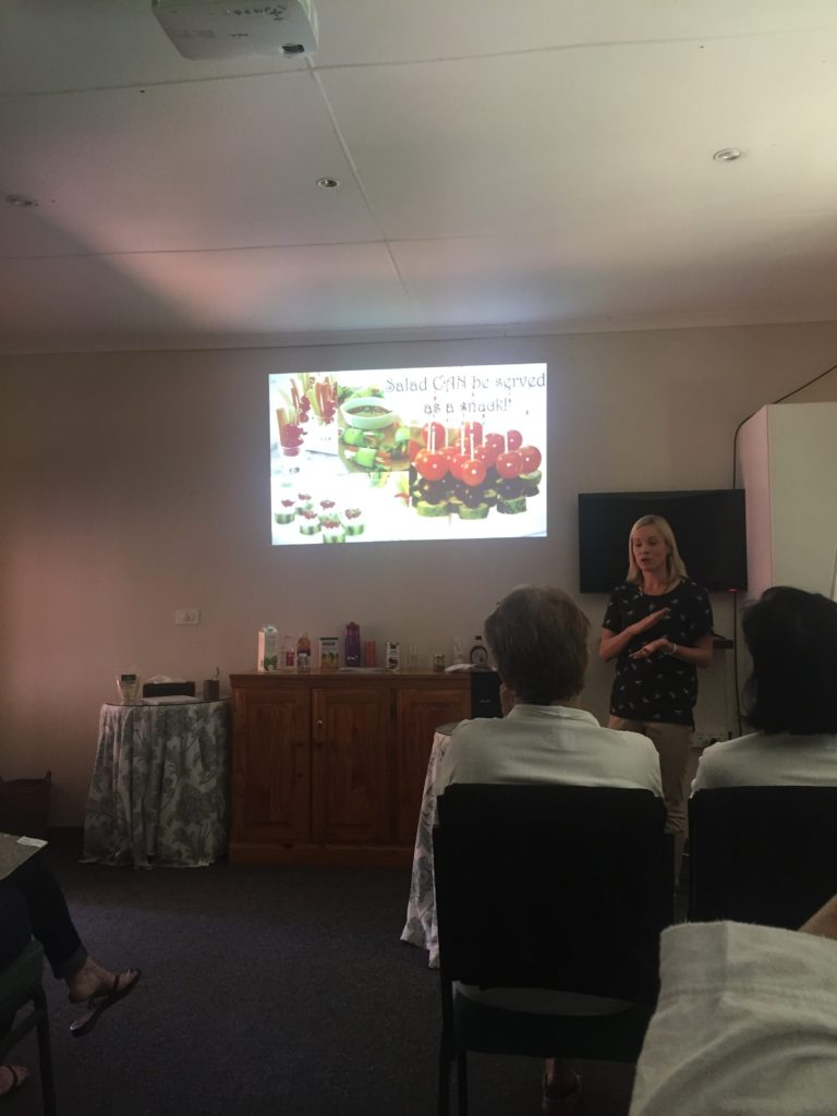 There are various talks and workshops presented. I found the one on nutrition to be so informative, it was given by Brookdale's resident dietician
